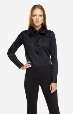 Czarna koszula damska WÓLCZANKA D102WL7687 - Zdjęcie 3