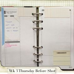 Wk 3 Thursday Before Shot #filofax #daytimer #franklin covey #diyfish #lifemapping #planner #organization #agenda