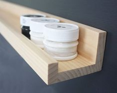 Narrow Floating Ledge Wood Shelf Pine suitable for