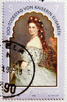great stamp Austria 7.00 Schilling S 7 Elisabeth empress of Austria (Sisi, Sissi)