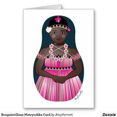 Bougainvillean Matryoshka Card