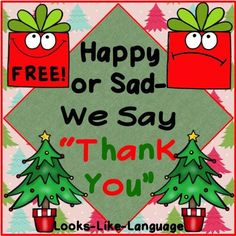 Saying 'thank you' for both wanted and unwanted gifts is so important! Practice with this FREE game from Looks-Like-Language!