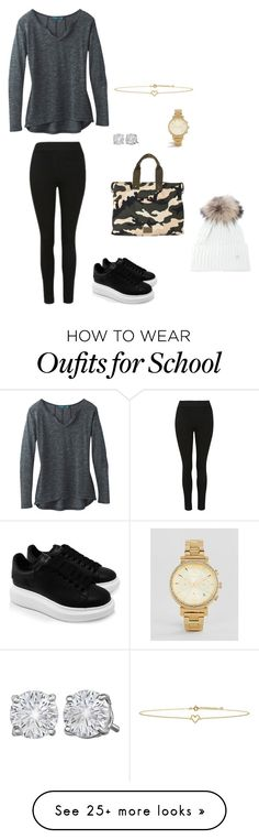 """""""Alexa and Reese's a day at school outfit"""" by reesefink on Polyvore featuring prAna, Alexander McQueen, Valentino, Lee Renee, Michael Kors and Bogner"""