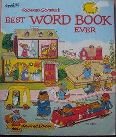 Richard Scarry's Best Word Book Ever (1980) by Richard Scarry - Vintage Childrens Book