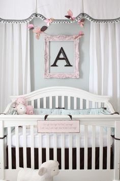 Frame with letter inside...cute idea