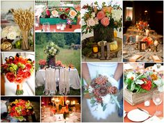 Great fall accents - love the table in the field