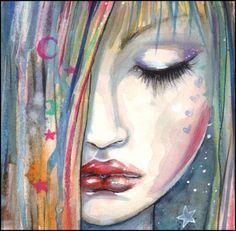 Items similar to Asleep - Gothic Girl Archival Giclee Print Fantasy Art - Modern Fantasy Art by Molly Harrison on Etsy Art And Illustration, Kunst Portfolio, Artist Portfolio, Fantasy Kunst, Fantasy Art, Fairy Art, Whimsical Art, Gothic Girls, Portrait Art