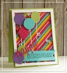 Happy Birthday Shaker Card by Jen Shults