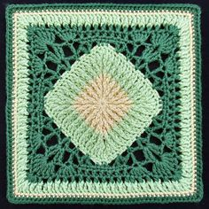 Ravelry: Ribs-n-Lace Afghan Block pattern by Joyce Lewis
