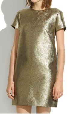 gold metallic dress