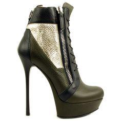 Gianmarco Lorenzi Half Boots LINDOS $795 Platform Stiletto Heel Booties #GML #Lorenzis #Heels