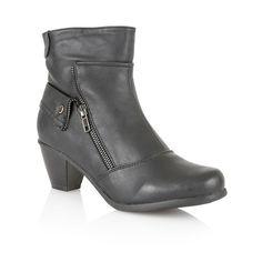 Lotus Viper ankle boots, Black
