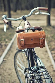 9e0ef5711ef Bike Bags – Slim Bicycle Briefcase – a unique product by Black Tree on  DaWanda Leather Bicycle