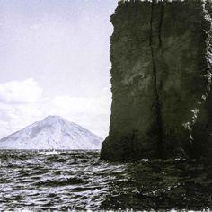"""Christiane Coppé """"Basiluzzo Stromboli"""" 20.00 cm x 20.00 cm (7.87"""" x 7.87"""") Taille du cadre: 50.00 cm x 50.00 cm (19.69"""" x 19.69"""") TIRAGE SUR PAPIER FINE ART Prix sur demande    Tirage 2/10 sur papier Hahnemühle Photo Rag 308g/m2 sous passe-partout.  chriscopp3 Stromboli, Mount Rainier, Photos, Mountains, Nature, Travel, Fine Paper, Artist, Human Height"""