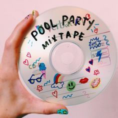 pool party mix cd aesthetic