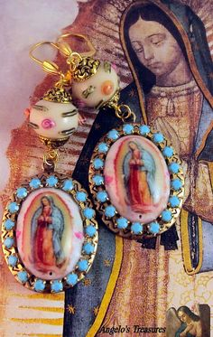 Great Earrings! Our Lady of Guadalupe by AngelosTreasures, $24.80