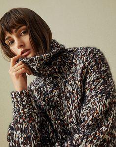 High Neck Sweater Copper Woman Brunello Cucinelli Mohair Sweater 3c561d0e4