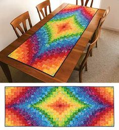 Fire Within Table Runner Diane McGregor Keepsake Quilting Table Runner And Placemats, Table Runner Pattern, Quilted Table Runners, Small Quilts, Mini Quilts, Quilting Projects, Quilting Designs, Skinny Quilts, Bargello Quilts