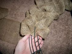 How to weave burlap onto a wreath frame