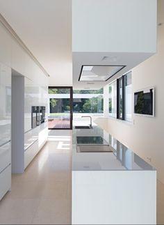 Schöne, helle Küche | Titus Bernhard Architekten ©Jens Weber, Orla Conolly, München