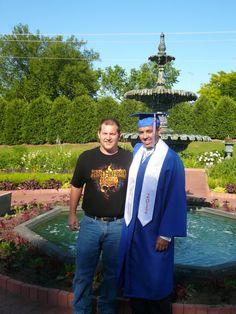 Clint Harris and CJ Christian at CJ's graduation June 6, 2012