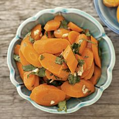 I think I will make this as my new dish for this Thanksgiving.  Moroccan Carrots   MyRecipes.com