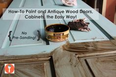 Learn how to antique closet doors with the Chalk-tique Kit. see www.chalktique.com for more info and to order
