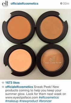 aerupbeauty: New! EyesLipsFace Mineral Pressed Bronzer • ELF Cosmetics: QualityWithout The Price Tag