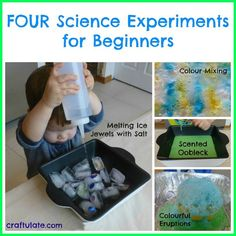Four Science Experiments for Beginners - perfect for toddlers!