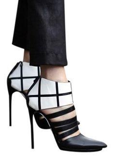 Balenciaga 2014spring Black/white Pumps $255