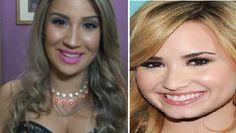 Aprendendo fazer a maquiagem de Demi Lovato com Bianca Andrade