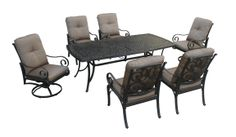 Elyse  New For 2014 Long Wearing Cast Aluminum Frames, Fully Cushioned  Dining Chairs,