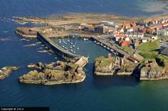 Dunbar Harbour. Dunbar is a town in East Lothian on the southeast coast of Scotland, approximately 28 miles east of Edinburgh.