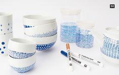 Die Porzellanmalstifte von Rico Design eignen sich bestens zum Gestalten von…