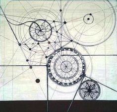 ORIENTAMENTO, tecnica mista su tavola 37,4 x 35 cm, Lucia Marchi, 2017