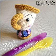 """Tazzina Chicco di """"La Bella e La Bestia"""" #amigurumi #crochet #uncinetto…"""