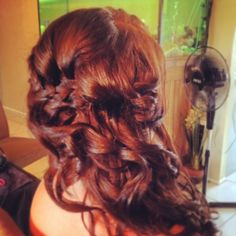 #harpier Mobile Hair & Makeup Stylists Brisbane, Gold Coast, and Sunshine Coast www.harpier.com #sidestyle #waterfallofhair #hairstylist #hair #curls #bridesmaidhair #weddinghair #bridalhair #formalhair