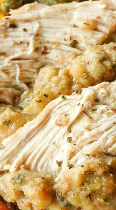 From The Cozy Cook comes this delicious recipe for Crock Pot Chicken and Stuffing. Its twice a delicious as it sounds, and is filled with enough flavor and warmth to satisfy the entire family. (Crockpot Recipes For Kids) Crock Pot Food, Crockpot Dishes, Crock Pot Slow Cooker, Slow Cooker Recipes, Cooking Recipes, Crockpot Meals, Crock Pots, Easy Recipes, Cooking Ideas