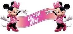 Minnie Mouse Clubhouse Room Decor Wall Banner  Custom Name -- Read more  at the image link.