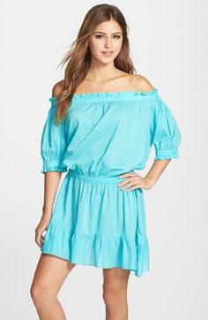 4ef116d0be MICHAEL Michael Kors Off the Shoulder Cover-Up Dress
