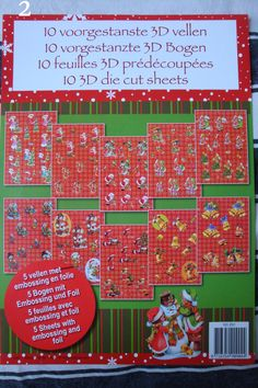 Set De 10 Feuilles Prédecoupé scrapbooking ou carterie Noël : Papeterie, carterie par happy-scrap-arts