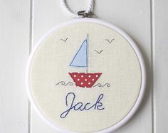 Personalised Nautical Hoop Art