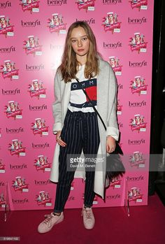 Maddi Waterhouse attends the launch of 'Good Ship Benefit', a beauty and entertainment destination opening on the River Thames and run by Benefit Cosmetics, on April 7, 2016 in London, England. The Ship is open to the public for five months from Saturday 9th April.