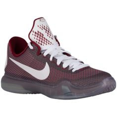 Nike Kobe X Elite - Boys' Grade School - Bryant, Kobe - Team Red/Metallic Cool Grey/Cool Grey/White