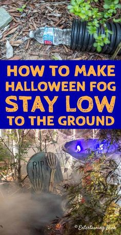 Learn how to make low lying fog with an inexpensive fog machine and a few cheap construction supplies. This is one of the easiest fog machine ideas for making your Halloween yard haunt or party look spooky. Halloween Prop, Halloween Outside, Halloween Scene, Scary Halloween Decorations, Halloween Haunted Houses, Outdoor Halloween, Holidays Halloween, Diy Halloween Graveyard, Halloween Witches