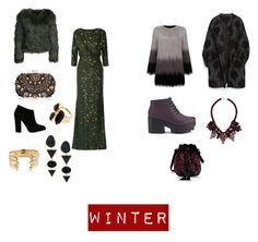 """Winter 1"" by crossman-93 on Polyvore featuring Badgley Mischka, Zara, Unreal Fur, ONLY, Lipsy, Alberta Ferretti, Melissa, Giuseppe Zanotti, Ek Thongprasert and River Island"
