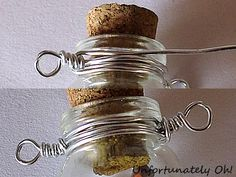 Schmuck bottle necklace tutorial How An Ultrasonic Humidifier Works Dry air is a common problem in c Bottle Necklace, Bottle Jewelry, Bottle Charms, Bottle Art, Diy Necklace, Collar Necklace, Mini Glass Bottles, Glass Vials, Small Bottles