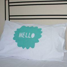 Henry & Co Hello Pillowslip teapea
