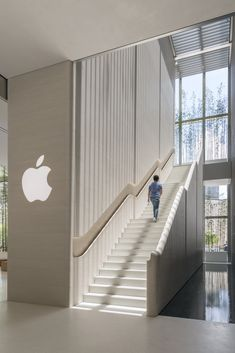 apple store macau - bamboo plants pierce apple store atrium in macau by foster + partners Interior Stairs, Office Interior Design, Office Interiors, Interior Architecture, Interior And Exterior, Retail Interior, Design Interiors, Store Interiors, Macau