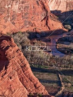 high angle shot of scenic sandstone cliffs. - High angle view of scenic sandstone cliffs.
